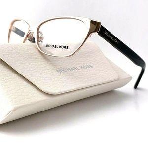 New Michael Kors Pale Gold MK3014 Sybil Cat Eye